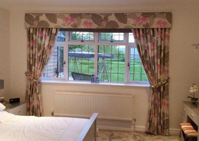 Feathered Nest Soft Furnishings Dorset Curtains Pelmet Pink