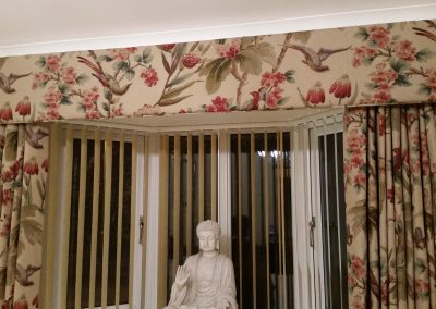Feathered Nest Soft Furnishings Dorset Curtains Vertical Blinds Pelmet