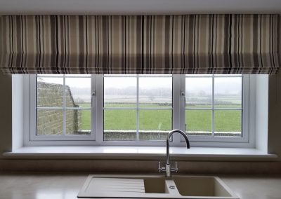 Feathered Nest Soft Furnishings Dorset Roman Blinds Stripe Countryside